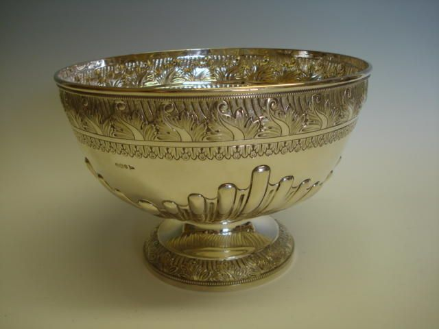 A Victorian circular punch bowl by Mappin & Webb, Sheffield 1896