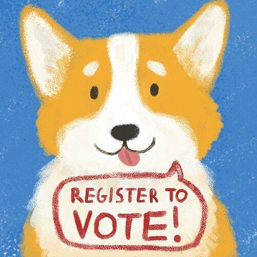 Register to vote corgi   ©Alex Ashman Illustration & Design    https://www.gov.uk/register-to-vote #corgi #corgisaysvote #registertovoteuk #yourvotematters #ukelection #alexashmanillustration #illustration #manchesterillustrator #GE2017