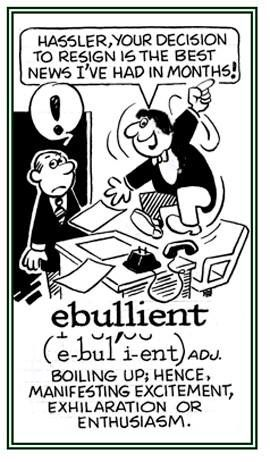 """Thesaurus Thursday- """"Ebullient"""" (def) overflowing with fervor, enthusiasm, or excitement; high-spirited  #toastmasters #rochmn #d6tm #around_rochester #rochester_mn #rochestercvb"""