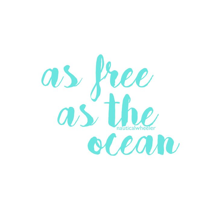 Ocean Quote as free as the ocean quote