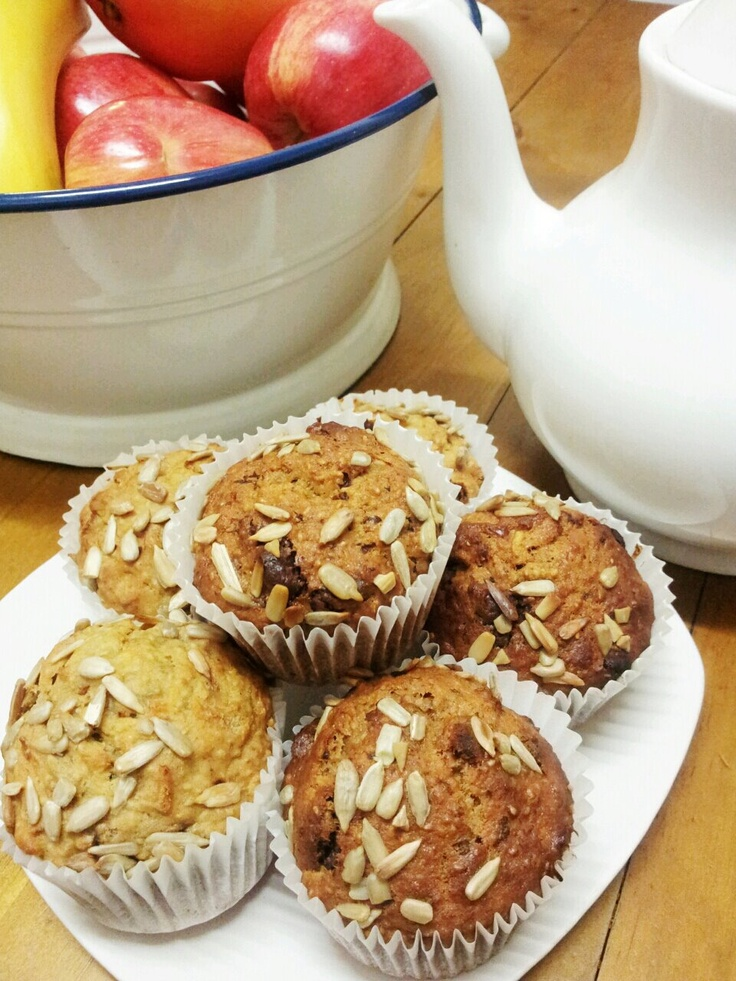 Banana And Apple Muffins  (gluten free,no added sugar)