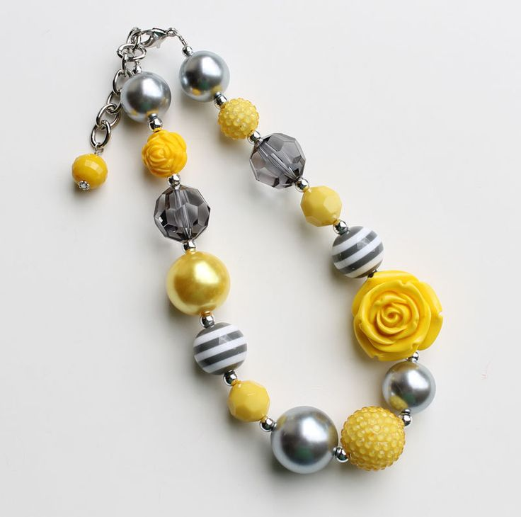 Made to match Persnickety clothing Yellow & Grey Chunky by AikoArt, $25.00