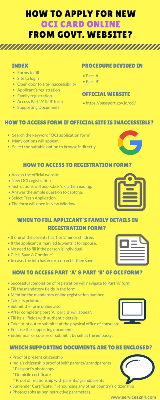 61 best nri documents images on pinterest birth certificate online how to apply for new oci card online from govt website falaconquin