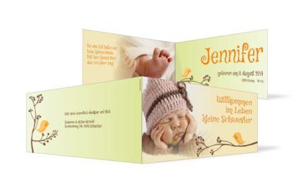 Geburtskarte Jennifer