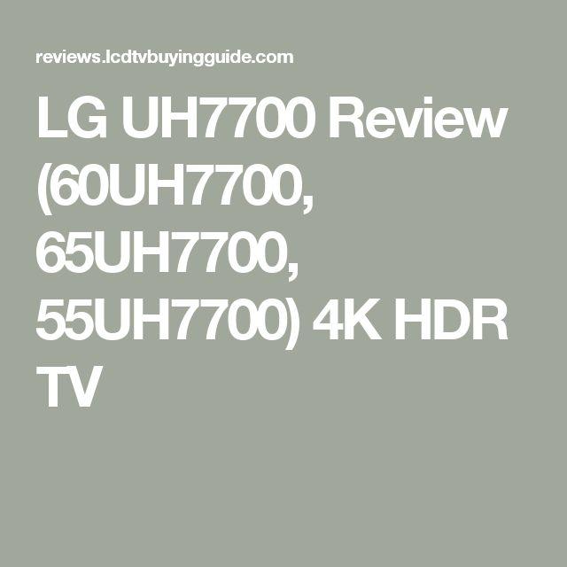 LG UH7700 Review (60UH7700, 65UH7700, 55UH7700) 4K HDR TV