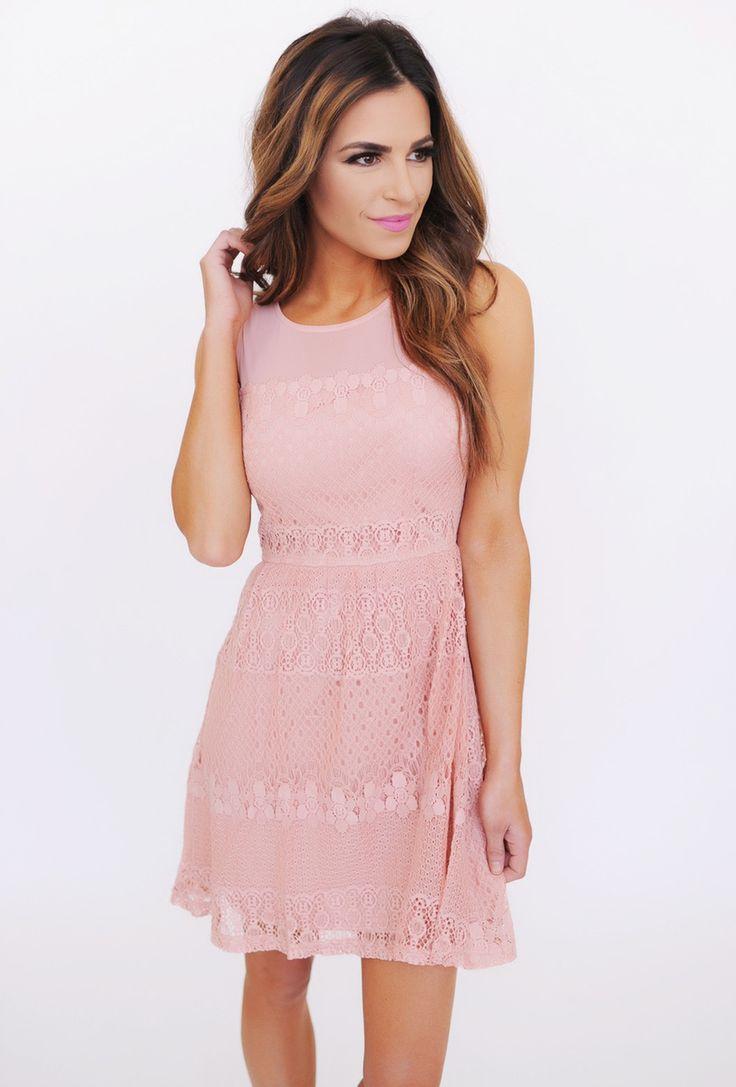 Blush lace dress dottie couture boutique style for Couture house dresses