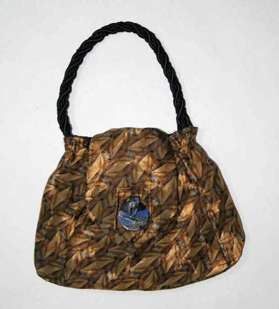 Silk Necktie Purse - Lisa Loves to Quilt