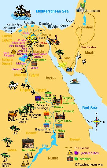 Ancient Egypt Maps for Kids and Students ~ Ancient Egypt