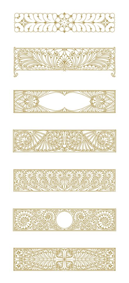 Art Deco Illustrations and Decorative Ornaments. Download 90 Vector Graphics.