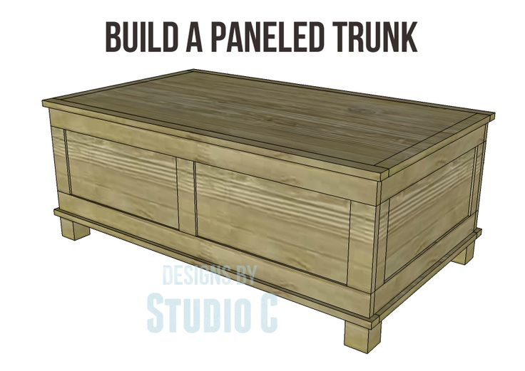 DIY Woodworking Plans to Build a Paneled Trunk I really want to build ...