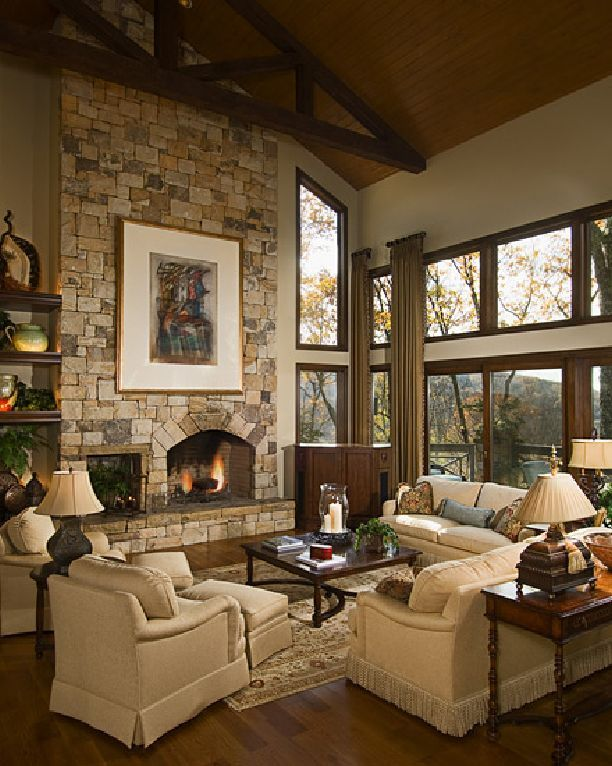 Beautiful Living Room Window Treatments: North Carolina Interior Design Living Room