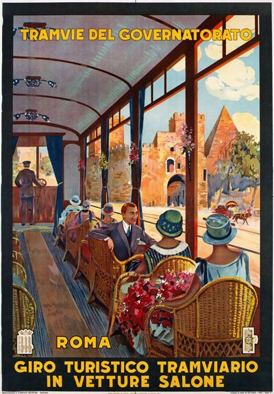 Vintage 1927 Roma Rome  Italy Travel Poster