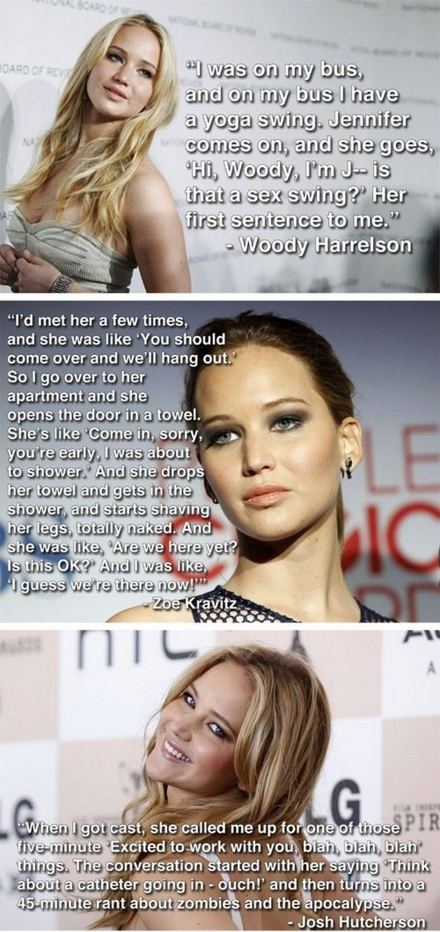 Funny celebrities - Celebrity Funnies (20 Pics) Jennifer Lawrence