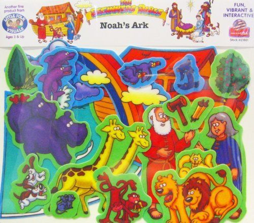 Beginner's Bible - Noah's Ark Felt Set by Little Folk Visuals. $13.54. 3 years & up. Make the story of Noah come to life with this beautifully colored felt set. The set includes Noah, his wife, pairs of animals, ark and more. 21 pre-cut, washable pieces in all. Flannelboard sold separately.