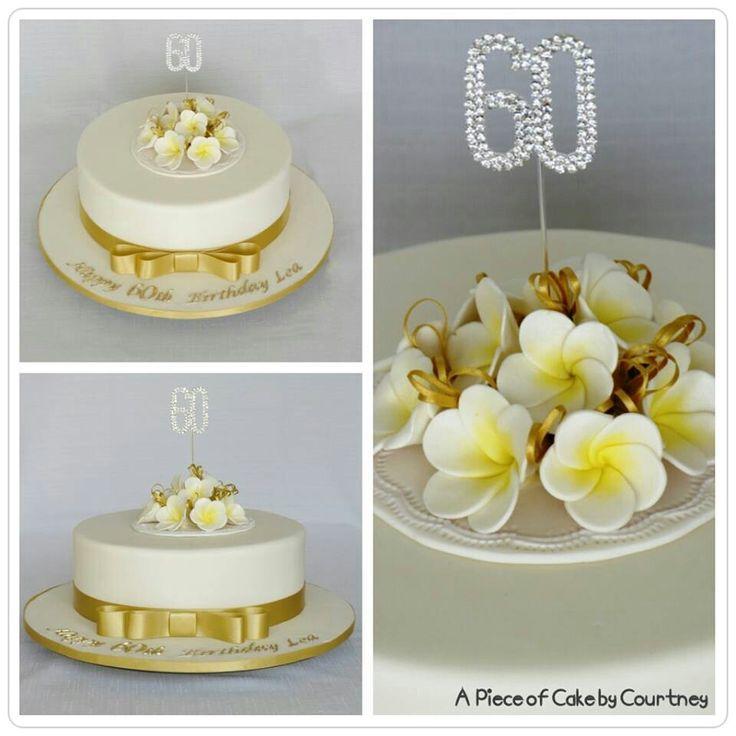 Gold frangipani cake