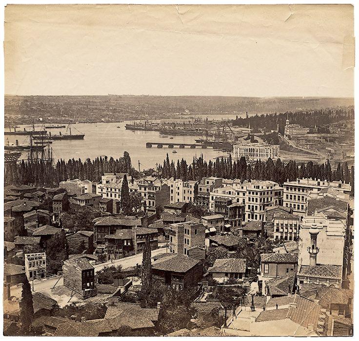 Galata Kulesi'nden Panorama - 9 Basile Kargopoulo, 1870'ler