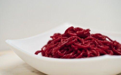 Pasta con pesto de remolacha para #Mycook http://www.mycook.es/receta/pasta-con-pesto-de-remolacha/