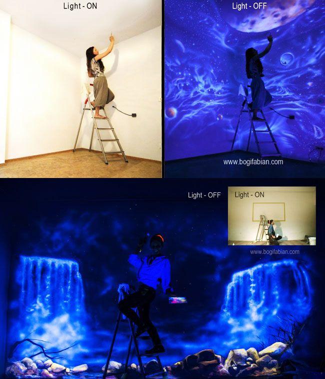 les 25 meilleures id es concernant peinture phosphorescente sur pinterest pot lumineux pots. Black Bedroom Furniture Sets. Home Design Ideas