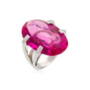 PIANEGONDA _ Anello, Brightness, argento 925 ‰ rodiato, quarzo idrotermale rosa