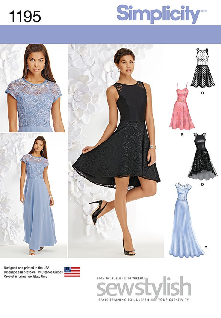 Simplicity - S1195 Misses and Miss Petite Special Occasion Dress - WeaverDee.com…