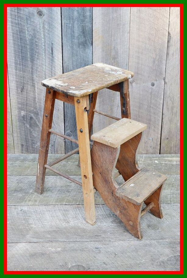 86 Reference Of Wooden Folding Step Stool Chair In 2020 Step