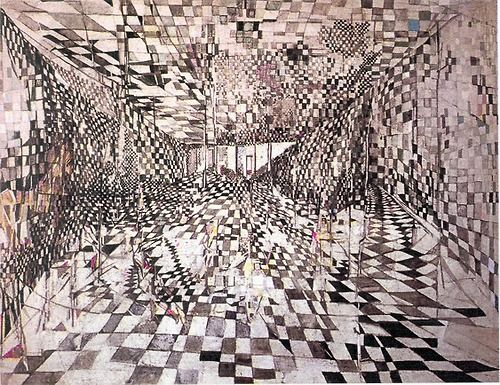 Maria Helena Vieira Da Silva, 'The Corridor', 1950. Portuguese/French artist, 1908-1992. Her work often related to architecture; here the space creates a similar effect to one of Yayoi Kusama's installations. http://www.tate.org.uk/art/artists/maria-helena-vieira-da-silva-2104