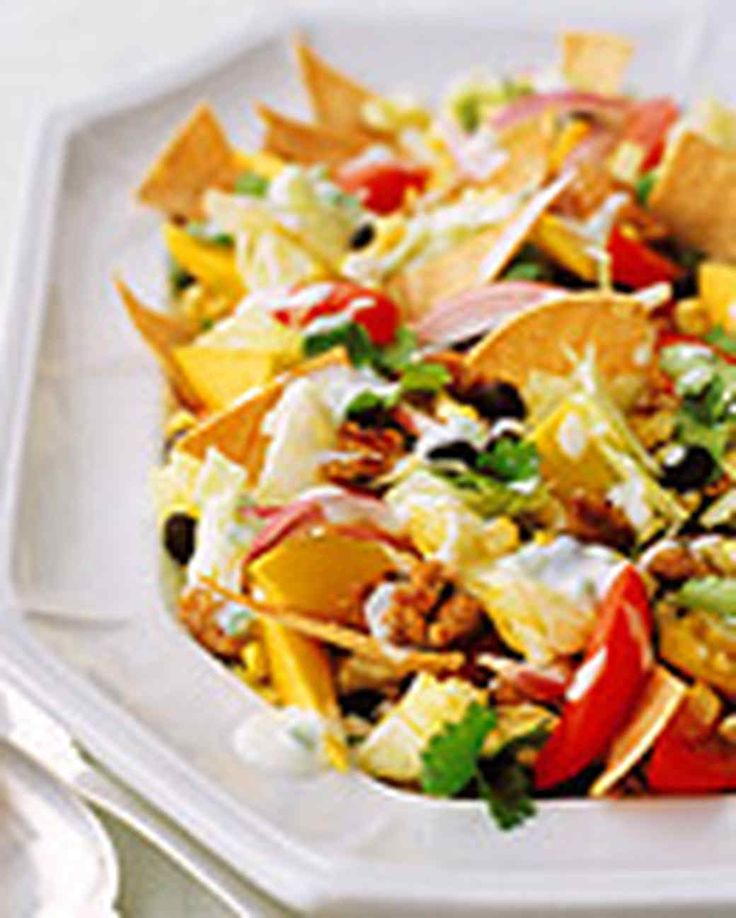 Light Taco Salad Game Day Recipes Martha Stewart Living Taco Salad Is A Delicious Ground Turkeyground Beefcool