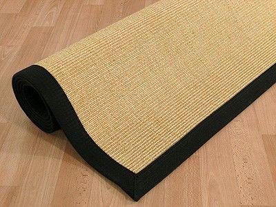 Sisal Astra Natur Teppich Honig Bordüre Schwarz Teppiche Sisal und Naturteppiche Sisal Teppiche mit Bordüre