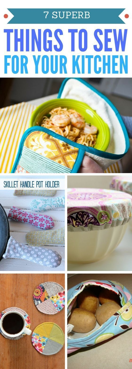 Kitchen Sewing Projects that are beyond AMAZING. These Easy Sewing Projects will totally make your time in the kitchen better! Sewing For Beginners | Sewing Projects For The Home | Simple And Easy Sewing Projects For The Kitchen