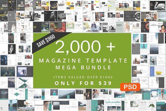 2000+ Magazine Bundle - 97% Off by pmvch on @creativemarket