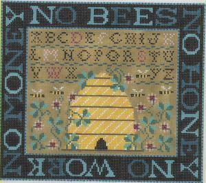 No Bees No Honey No Work No Money - Needlepoint kit