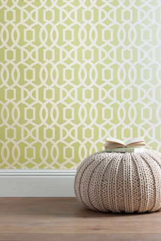 Buy Green Lattice Geo Wallpaper from the Next UK online shop