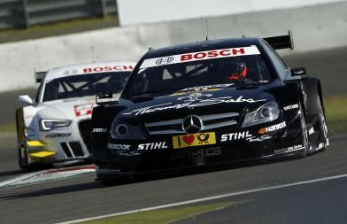 Gary Paffett (THOMAS SABO Mercedes AMG C-Coupé) at 103 points at Nurburgring after 6th 2012 season DTM race