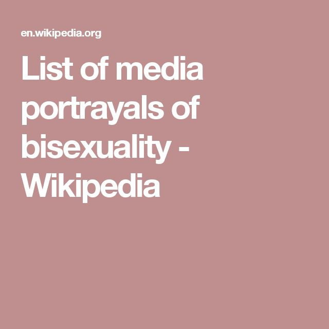 List of media portrayals of bisexuality - Wikipedia