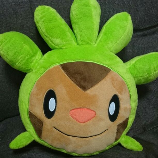 Pokemon Center Year's first Chespin cushion.From japan.EMS- #PokemonCenter