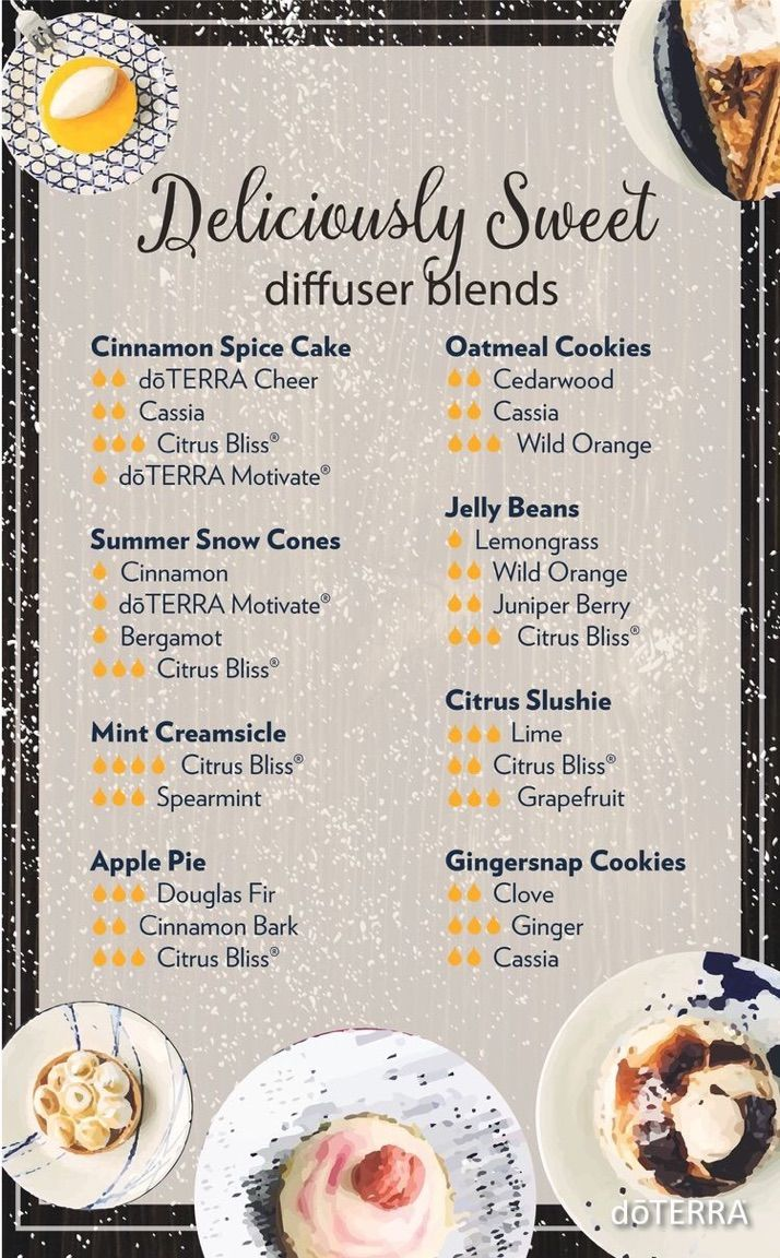 """It's the middle of the week, and sometimes the day can drag. Try an uplifting """"Deliciously Sweet"""" diffuser blend to lighten up your day! 
