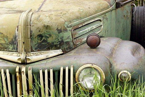 Carro, Ferrugem, Antigo, Veículo