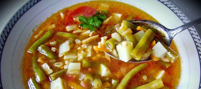 Суп стручковой фасолью рецепт фото