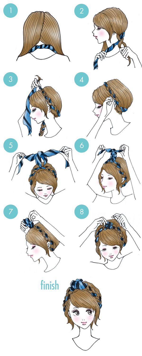 braids bandana hairstyle diy