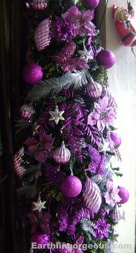 pinterest christmas tree pink purple and silver decorations | ve been meaning to post about my purple Christmas tree for the ...