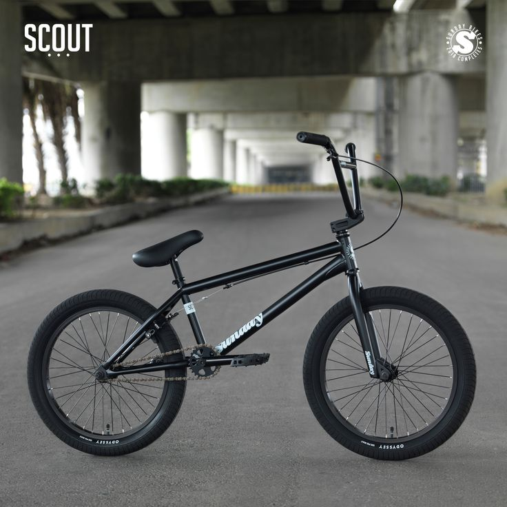 2018 Sunday Scout Bike in Matte Black. Check out the rest of the 2018 Sunday bikes online. #SundayBikes #2018 #BMX