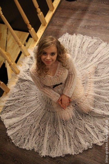 """Платья ручной работы. Ярмарка Мастеров - ручная работа Платье """"Снежность"""". Handmade."""