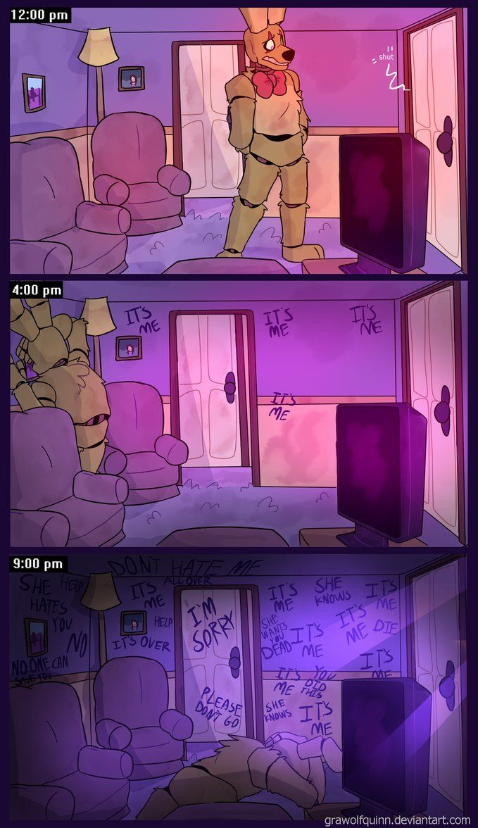 Springtrap and Deliah (Page 31) by GraWolfQuinn.deviantart.com on @DeviantArt
