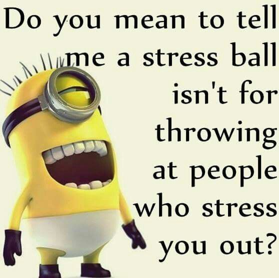 Stressed out minion.