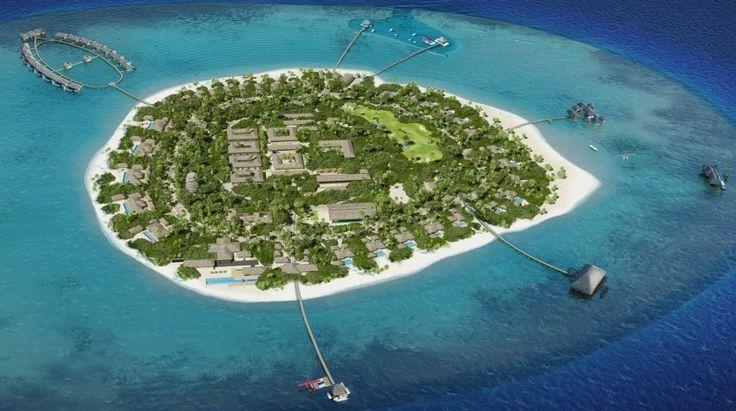 The Private Velaa Island Resort in the Maldives.