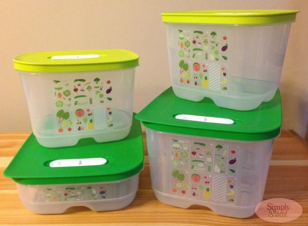 Tupperware FridgeSmart Containers Review - Simply Stacie #fridgesmart