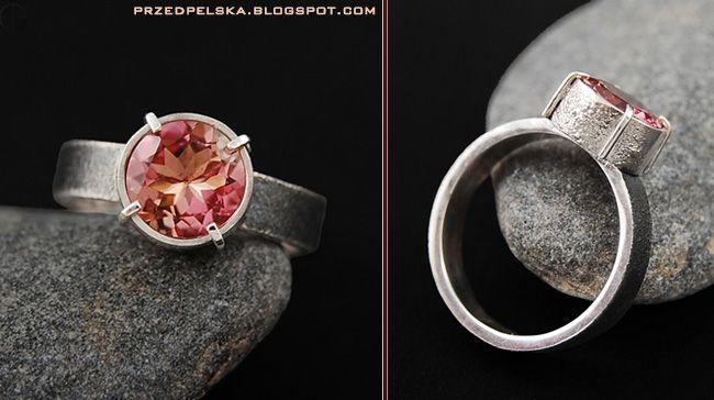 EmiFashion Biżuteria Artystyczna: Turmalin w srebrze