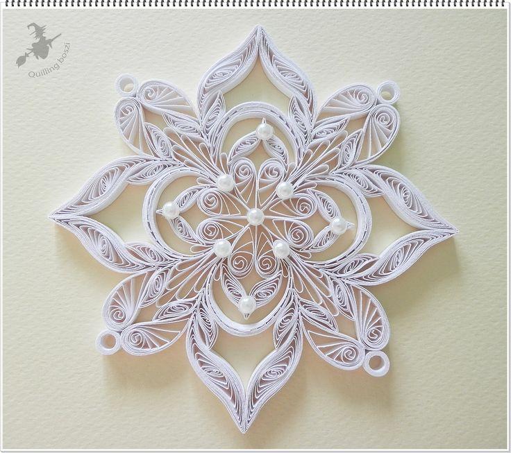 images à propos de etoile en quilling sur Pinterest   Décorations de ...