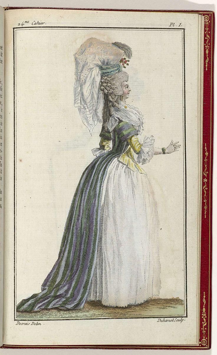 Cabinet des Modes ou les Modes Nouvelles, 1 Novembre 1786, pl. I, A.B. Duhamel, Buisson, 1786