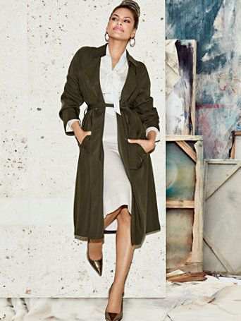 Shop Eva Mendes Collection - Elena Trench Coat . Find your perfect size online at the best price at New York & Company.